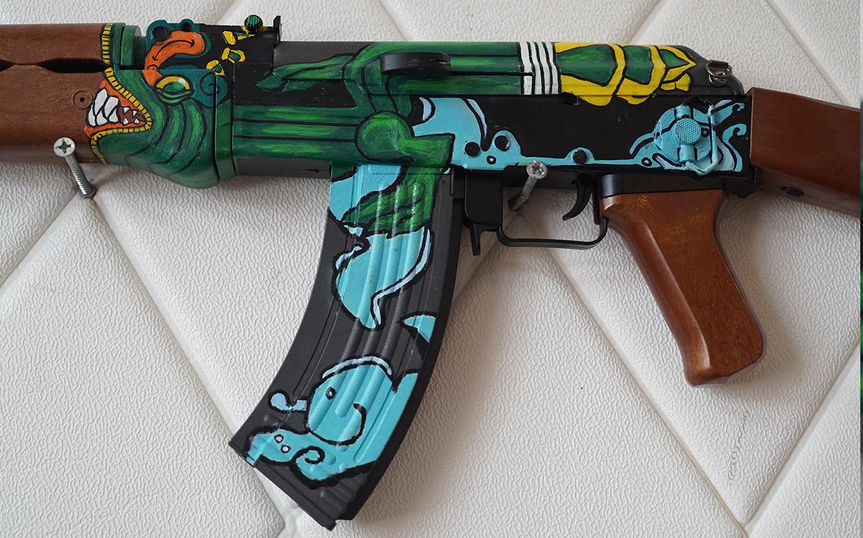 Súng đồ chơi AK47 Fire Serpent CSGO số 2