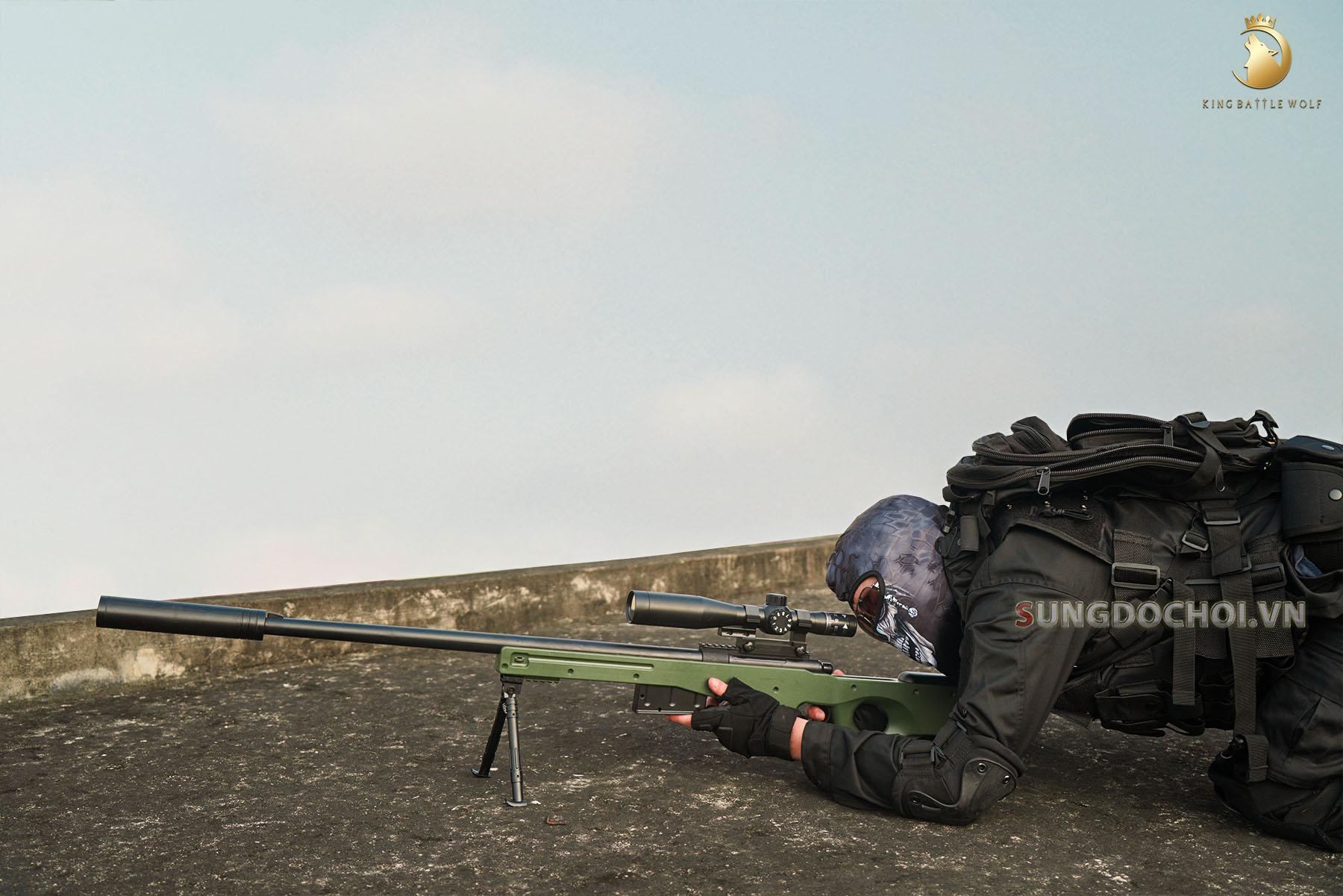 Súng đồ chơi AWM đạn thạch 140cm siêu to khổng lồ số 7
