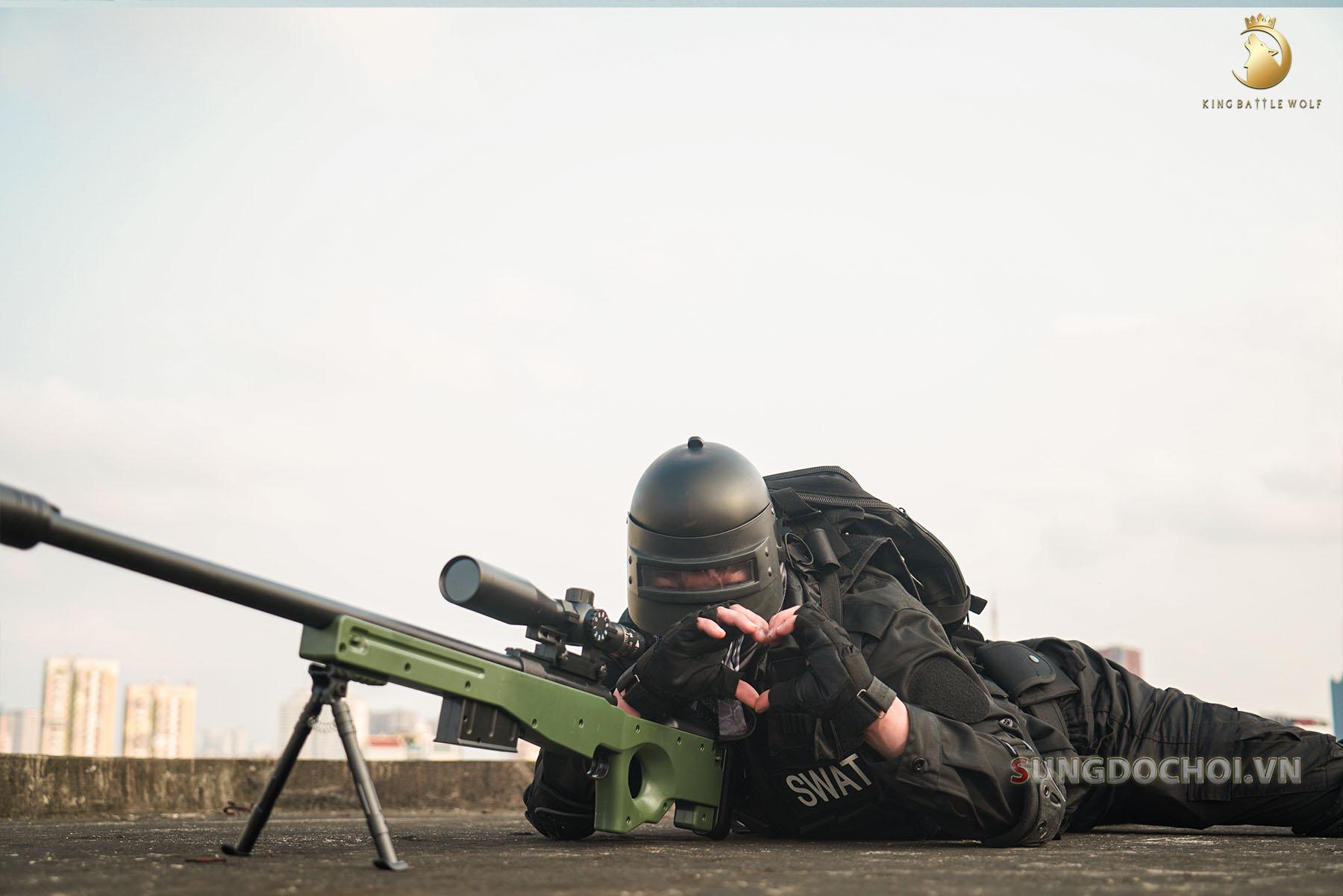 Súng đồ chơi AWM đạn thạch 140cm siêu to khổng lồ số 8