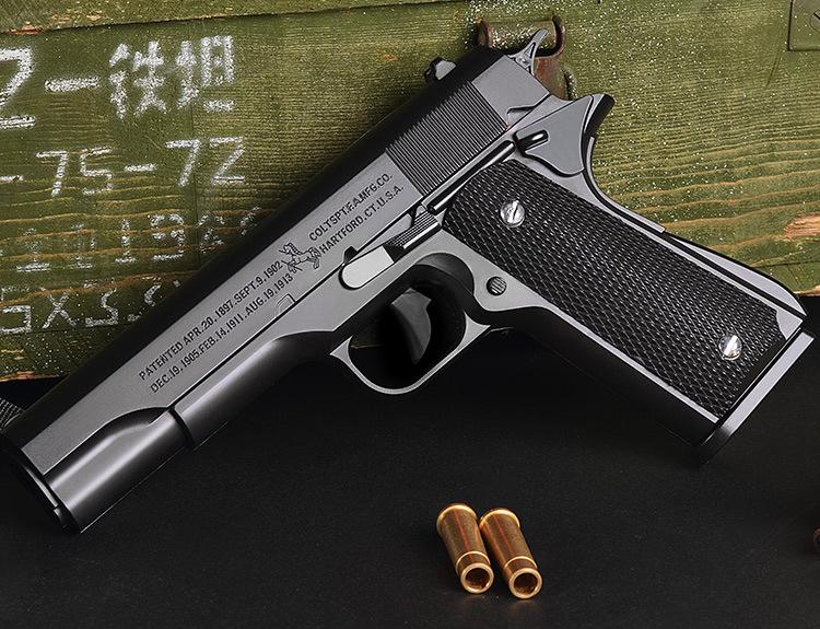 Súng lục đồ chơi Colt M1911 đạn thạch tỷ lệ 1:1 số 2