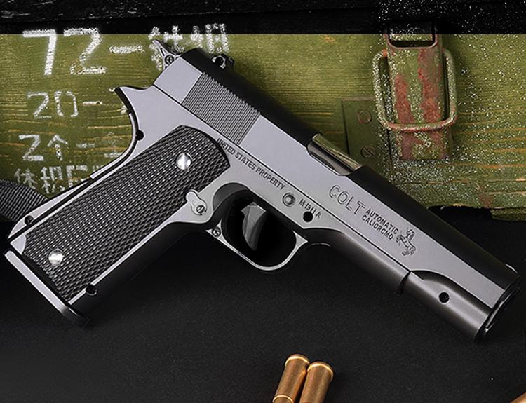 Súng lục đồ chơi Colt M1911 đạn thạch tỷ lệ 1:1 số 3