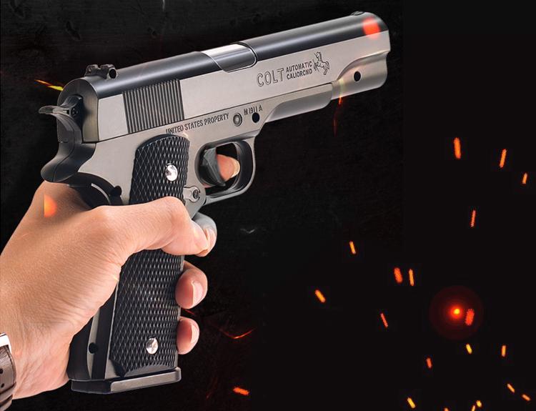 Súng lục đồ chơi Colt M1911 đạn thạch tỷ lệ 1:1 số 1