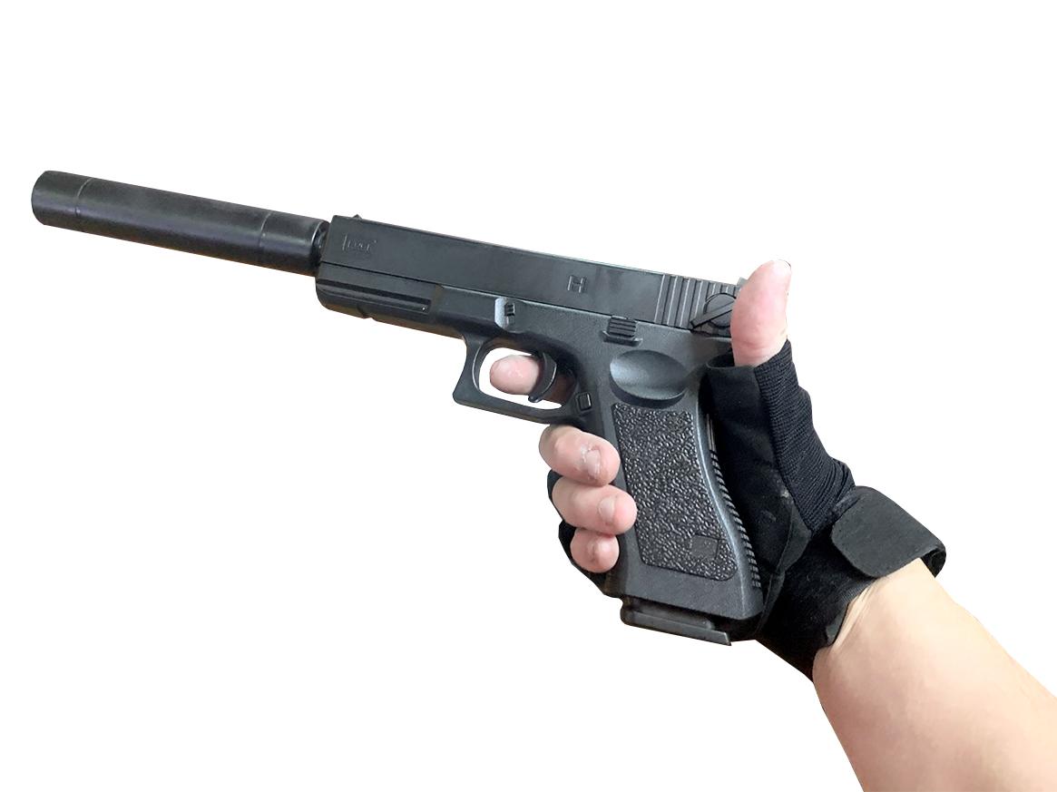 Súng đồ chơi GLOCK P18C Slient 1:1 (có giảm thanh tháo băng đạn) số 1